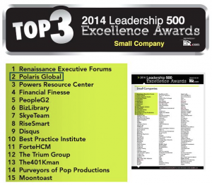 Polaris Global - winners of the Leadership 500 Excellence Award