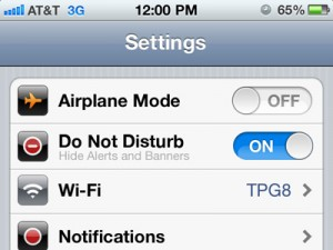 Do not disturb - high productivity at work!